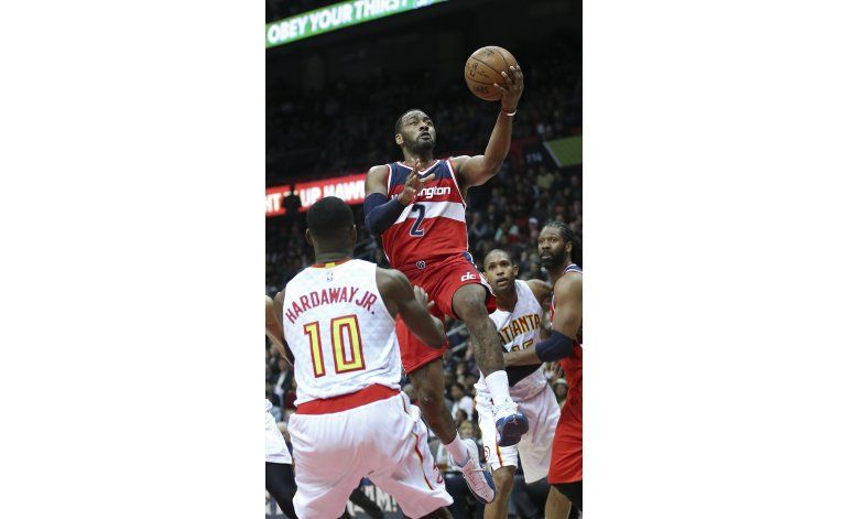Wall lidera 5to triunfo seguido de Wizards, frenan a Hawks