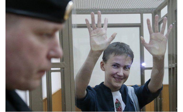 Juicio a piloto ucraniana capturada por Rusia