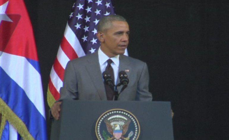 Obama  brindó un histórico mensaje transmitido en directo a toda Cuba