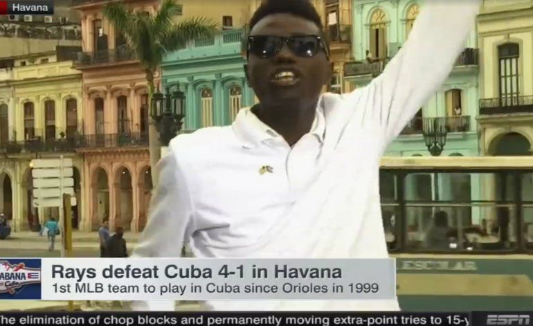 Esto ocurrió en directo mientras ESPN emitía en VIVO desde Cuba