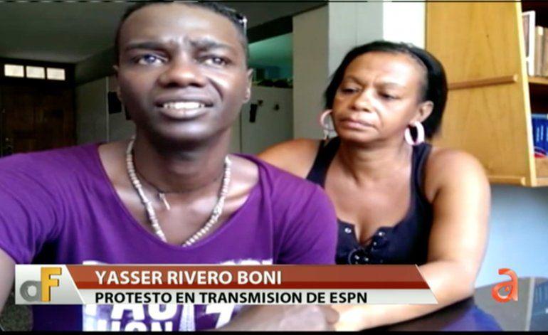 Liberado Yasser Rivero el joven que gritó ¡Abajo Fidel! frente a las cámaras de ESPN