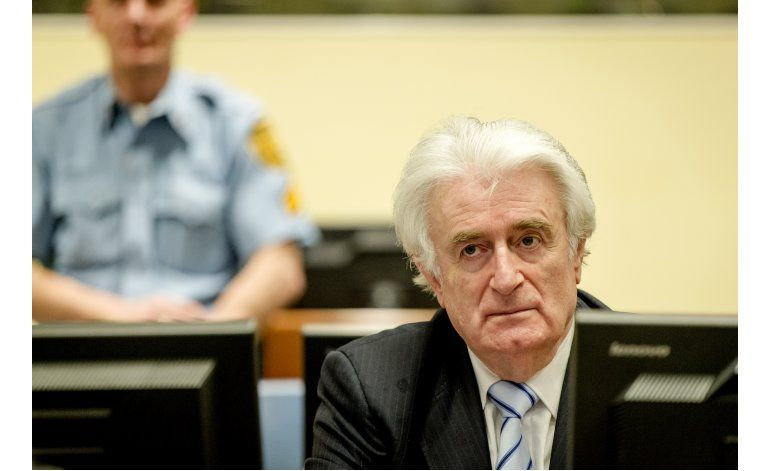 Tribunal de la ONU condena a Karadzic a 40 años de cárcel