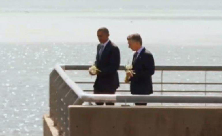 Presidente Obama visitó  el Parque de la Memoria, en el último día  de su visita oficial a Argentina