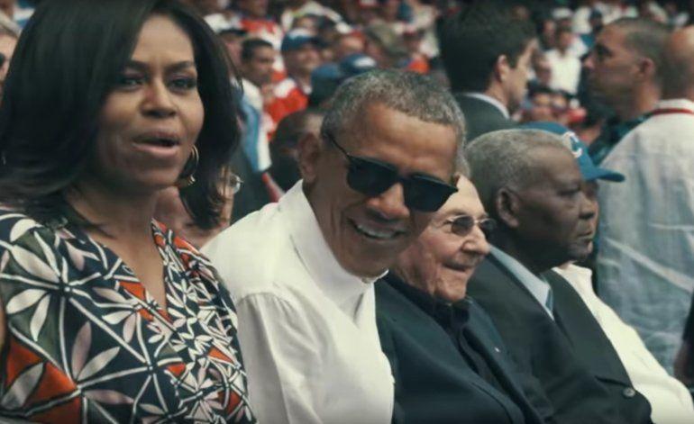 La familia Obama se lo pasó bien en el Latino (NUEVAS IMÁGENES)