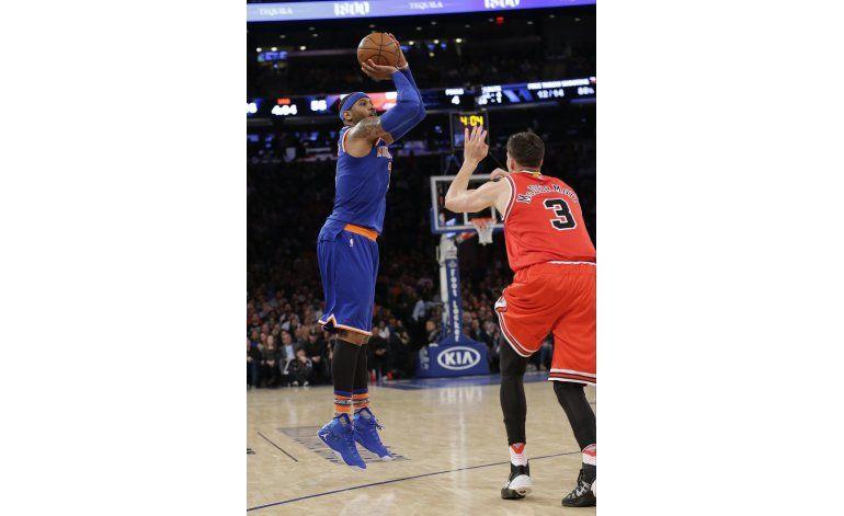 Anthony comanda nueva victoria de Knicks ante Bulls
