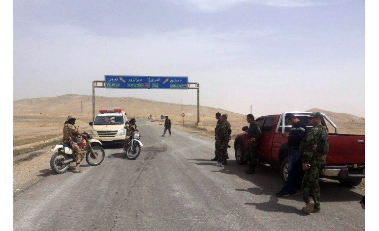Fuerzas sirias recapturan recinto cerca de Palmira