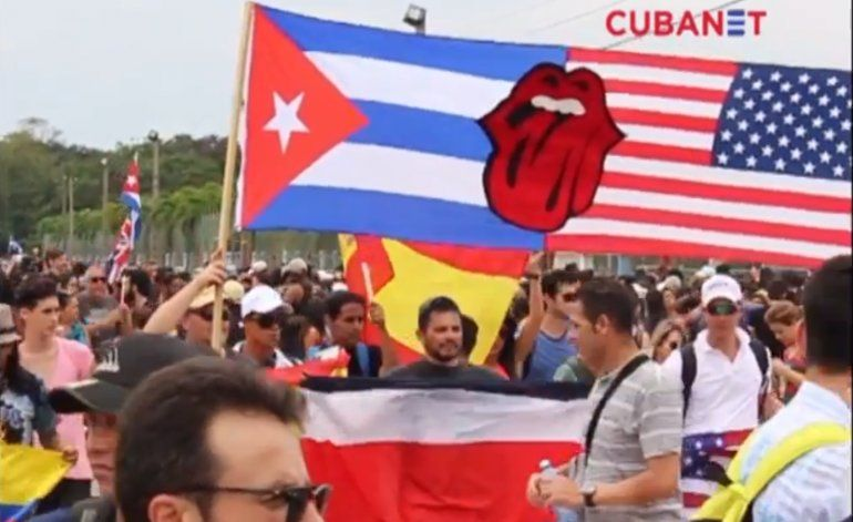 Avalancha de público para ver a los Rolling Stones en Cuba