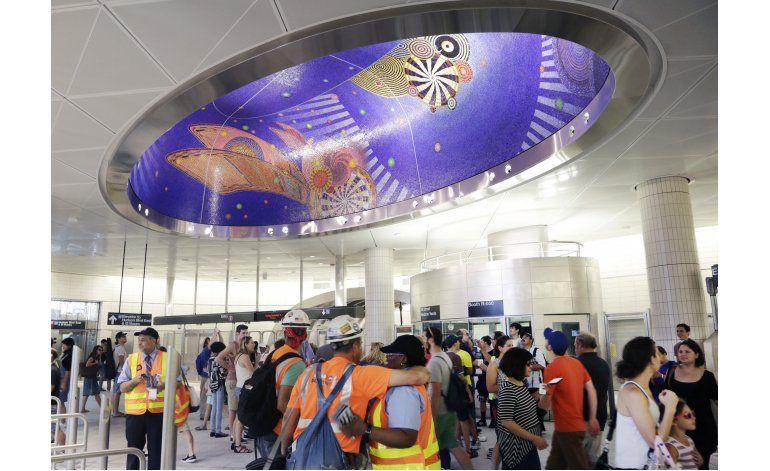 Filtraciones arruinan nueva estación del metro de Nueva York