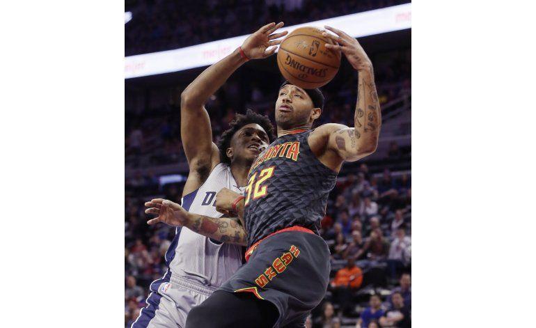 Hawks cortan racha victoriosa a los Pistons