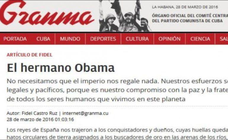 El dictador Fidel Castro responde a Obama que Cuba no necesita regalos del imperio