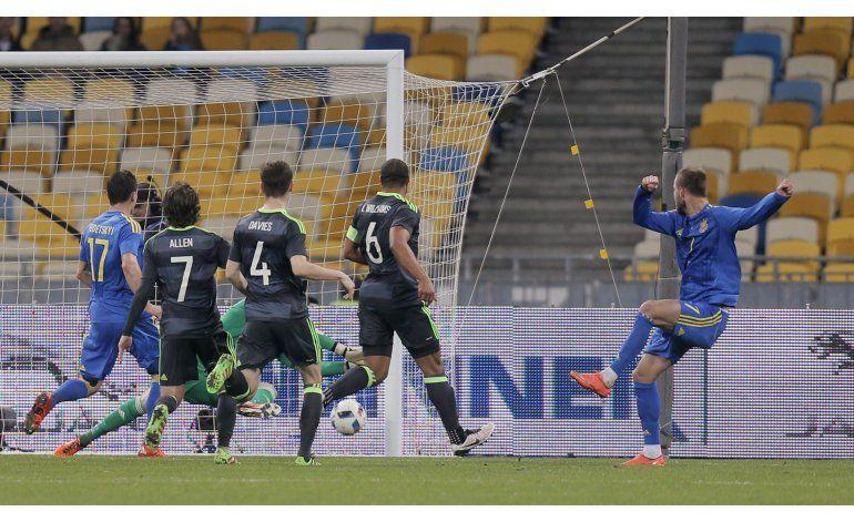 Ucrania supera 1-0 a Gales en amistoso