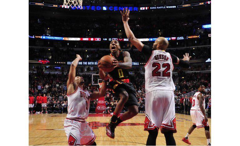 Hawks siguen en alza tras vencer a Bulls