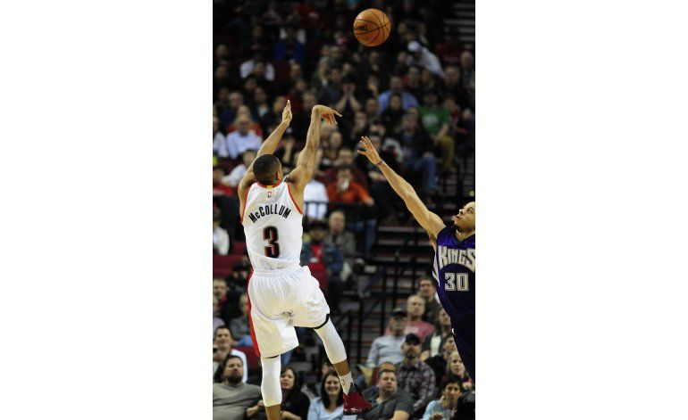 Crabbe anota 21 y Blazers vencen a Kings