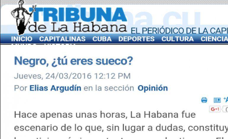 Prensa oficialista cubana trata de negro a Obama