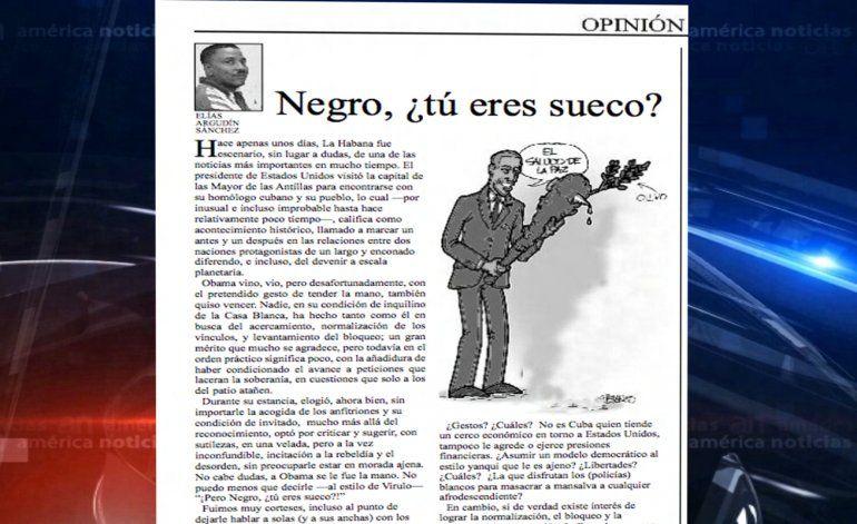 Periodista oficialista cubano pide disculpa después que le llamó negro a Obama