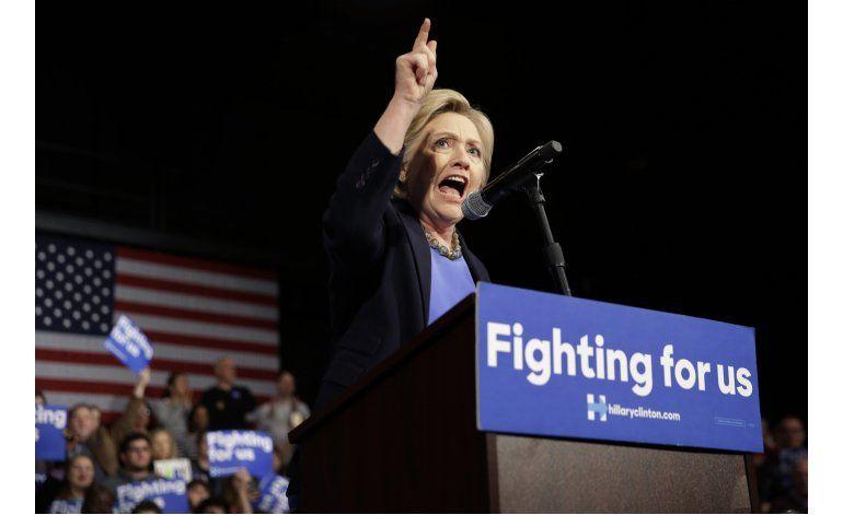 Clinton hace campaña en Nueva York