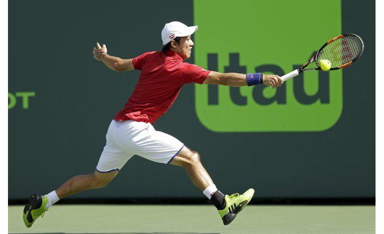 Nishikori supera 5 bolas de partido y alcanza final en Miami