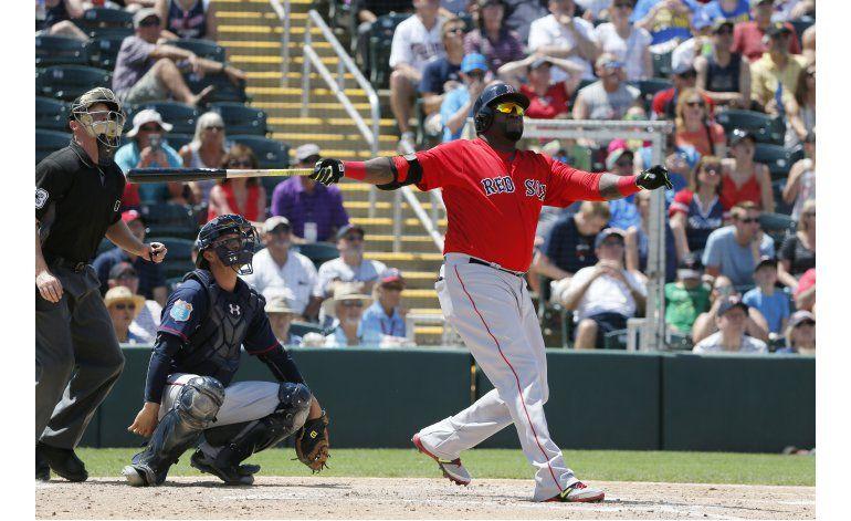 Ortiz se despide de Fort Myers con un jonrón