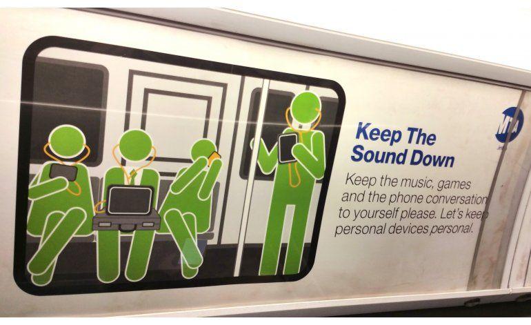 Exhibición sobre cortesía en transporte público llega a NY