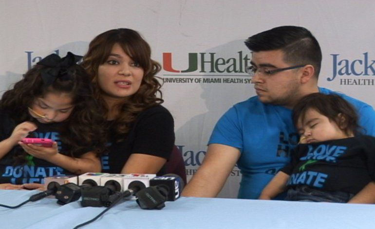 Dos niños son traídos desde Texas a Miami para realizarles trasplantes múltiples y así salvar su vida
