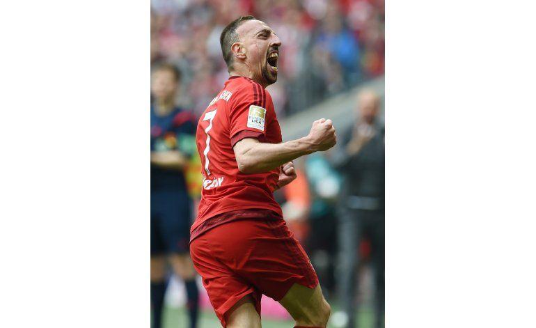 Bayern gana 1-0 a Eintracht Frankfurt con gol de Ribery