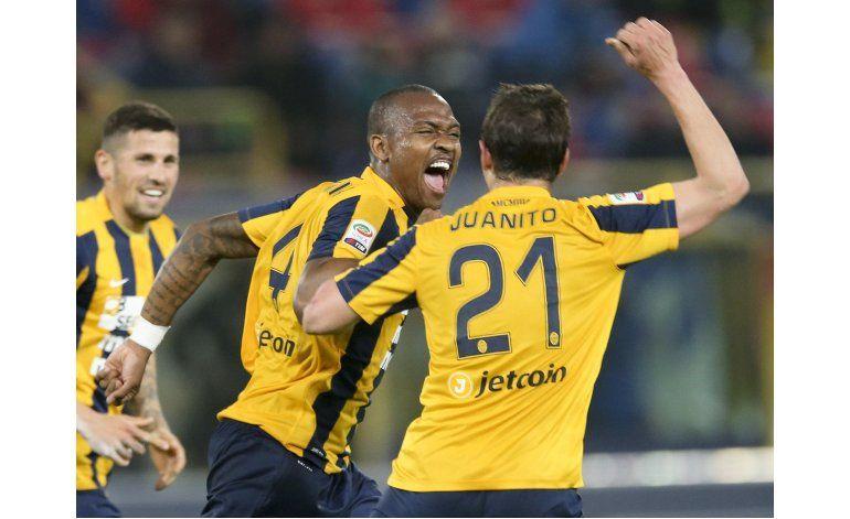 Hellas Verona, colista en Italia, supera 1-0 a Bologna