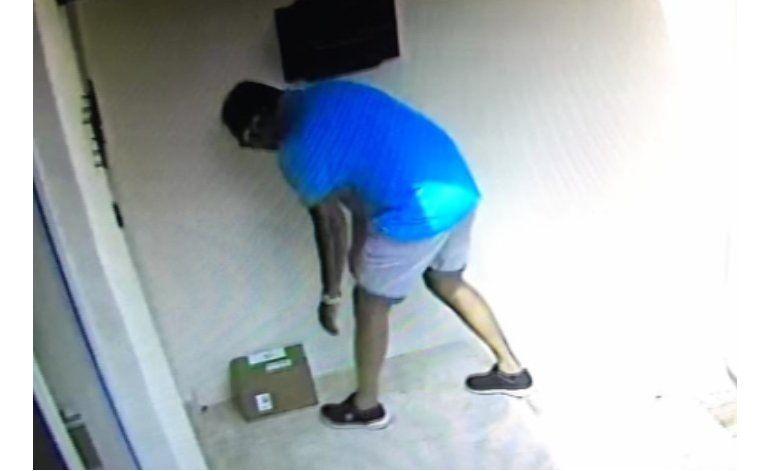 Ladrón oportunista se roba un paquete de correo en una casa del suroeste de Miami