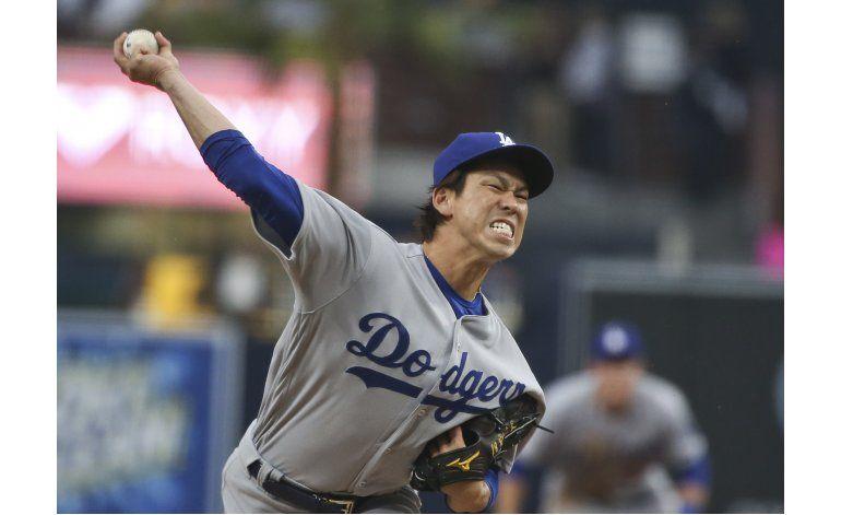 Maeda pega un jonrón en la barrida de Dodgers sobre Padres