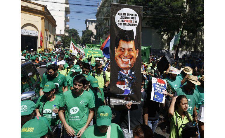 Paraguay: campesinos protestan contra gobierno