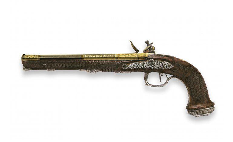 Pistolas de Simón Bolívar a subasta