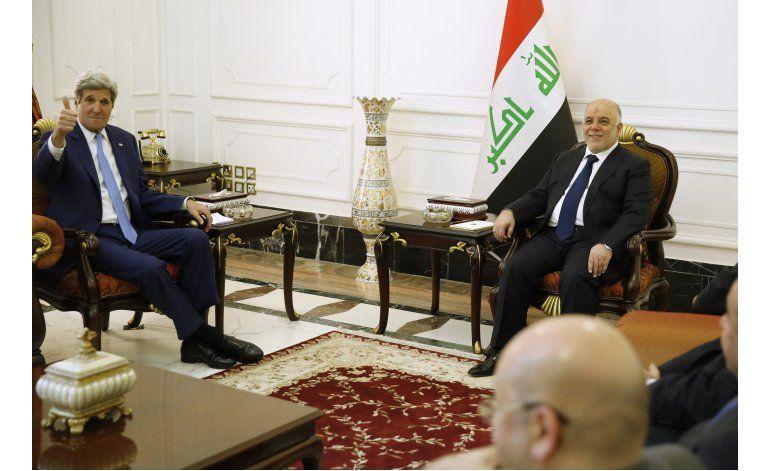 Kerry en Bagdad para abordar lucha contra Estado Islámico