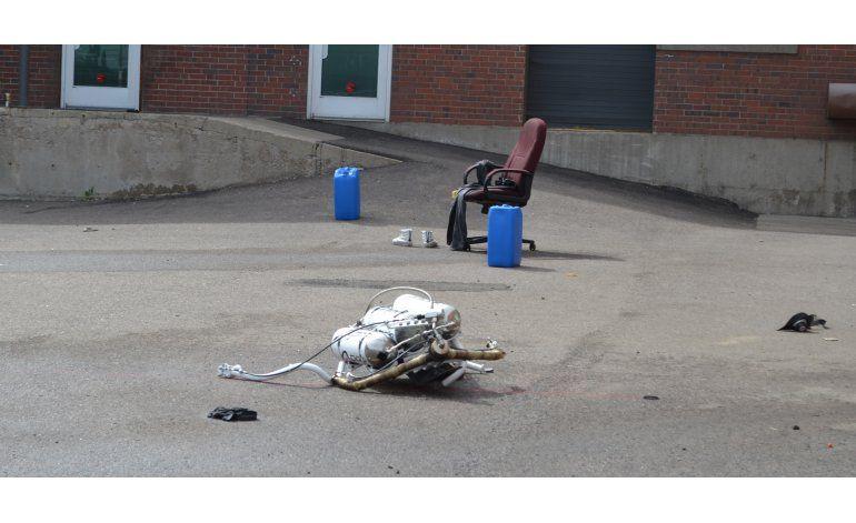 Accidente durante demostración de mochila cohete