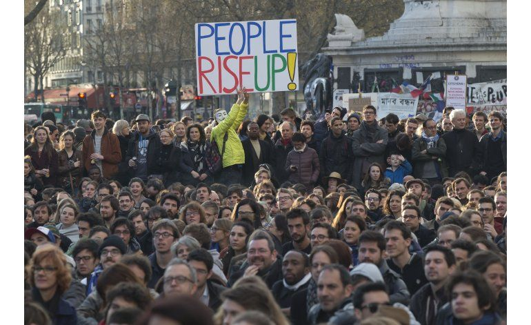 Protestan en Francia contra reformas laborales