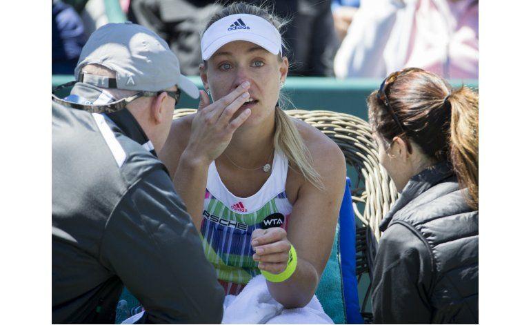 Kerber se retira; Stephens y Vesnina, a final en Charleston