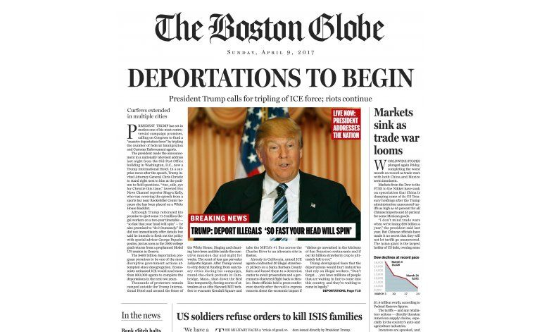 Trump llama despreciable al Boston Globe por sátira