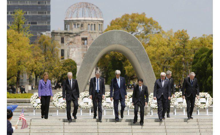Kerry realiza histórica visita a Hiroshima