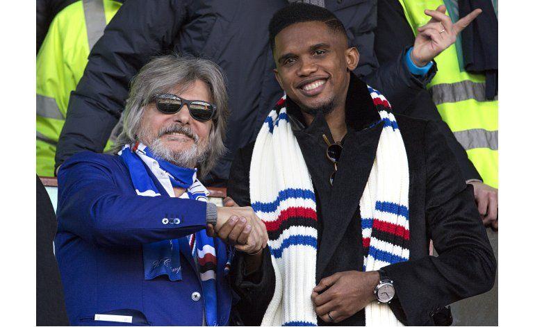 Etoo amenaza demandar a Sampdoria