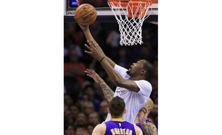 Con otro show de Durant y Westbrook Thunder arrolla a Lakers