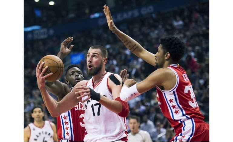 Raptors vencen a 76ers por 12ma ocasión
