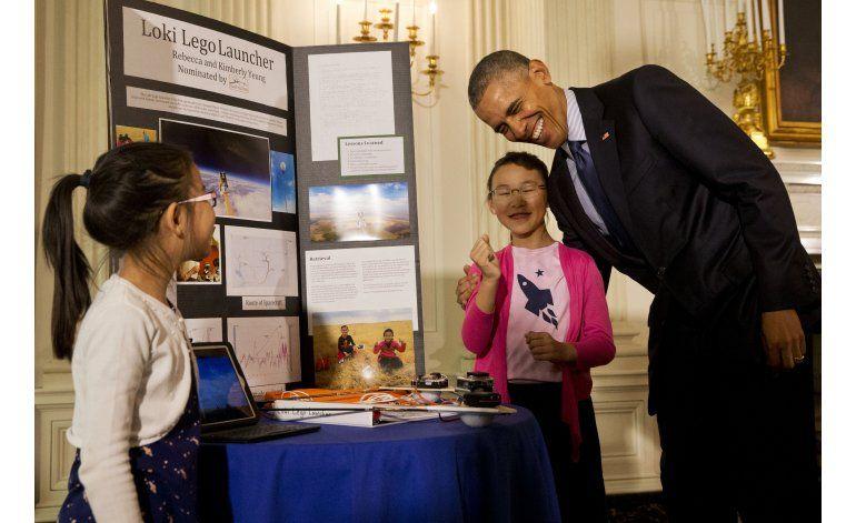 Obama elogia el ingenio estadounidense en feria de ciencia