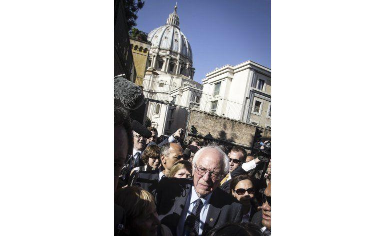 Bernie Sanders se reunió con el papa Francisco