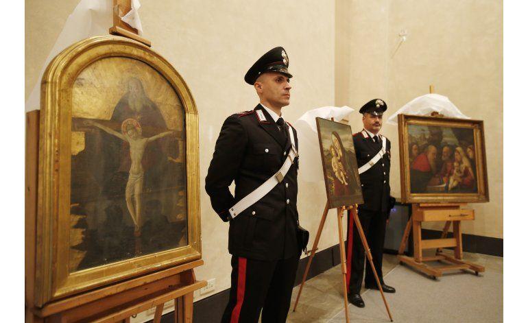 Italia recupera 3 pinturas incautadas durante la guerra