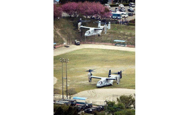 EEUU entrega víveres en zonas azotadas por sismos en Japón
