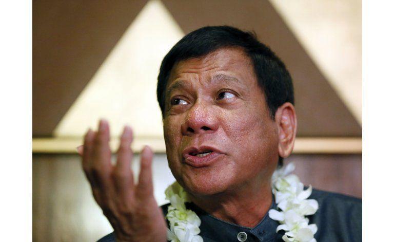 Candidato presidencial filipino se disculpa por declaración