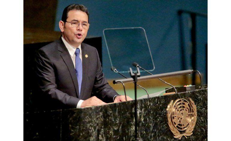 Jimmy Morales en ONU: ayudemos primero a adictos a la droga
