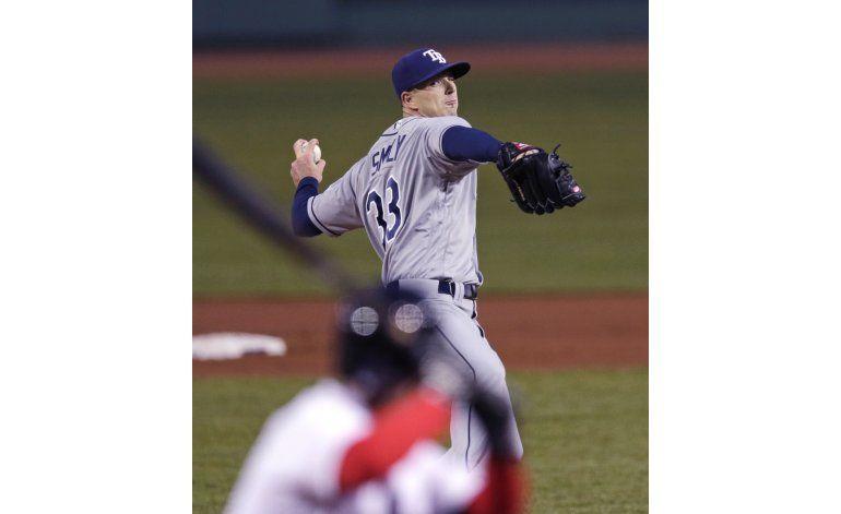 Rays limitan a Boston a un hit en 10 innings