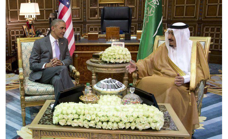 Obama se reúne con rey de Arabia Saudí
