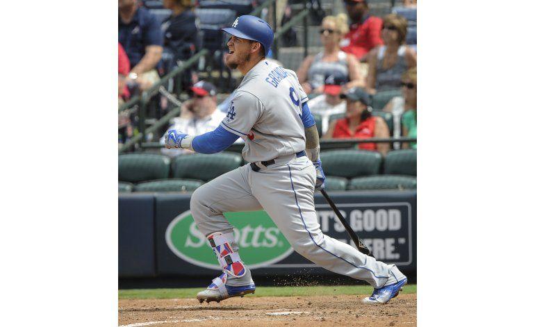 Dodgers vencen a Bravos con doble de Grandal