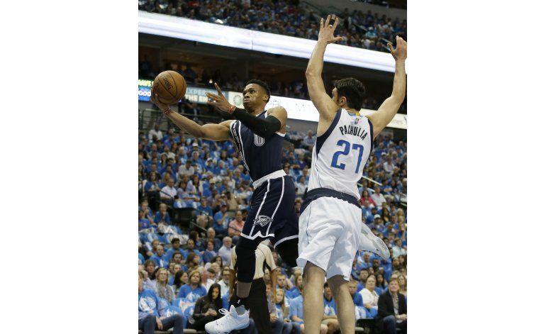 Thunder gana a Mavericks y toma ventaja de 3-1 en la serie