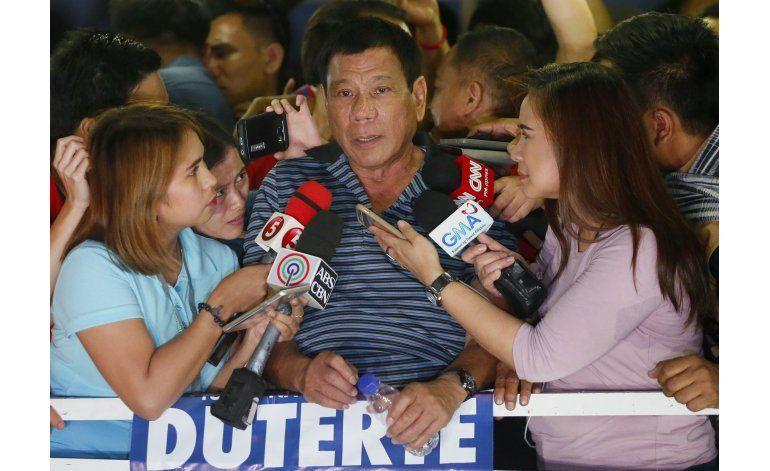 Aumenta ventaja de alcalde de Filipinas antes de elecciones
